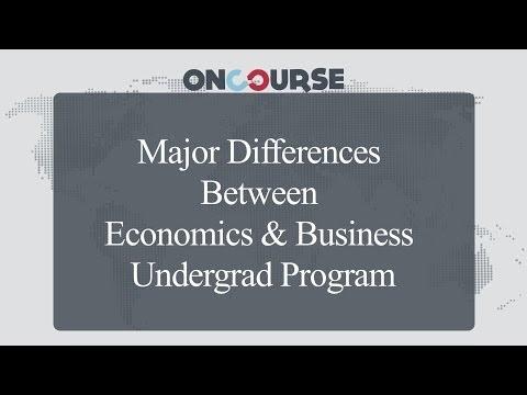 Study In USA    Undergrad Economics V/S Undergrad Business    On Course