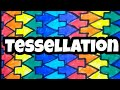 Tessellation  | Easy pattern of Tile design |Tessellation for beginners