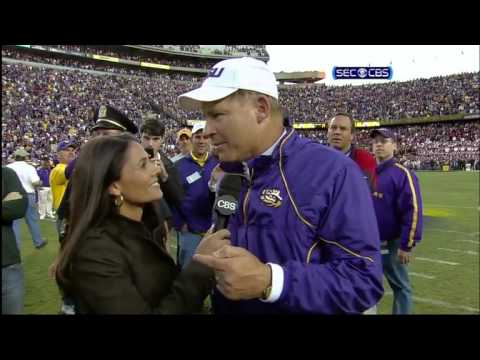 Les Miles field interview vs Alabama