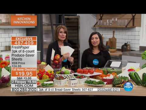 HSN | Kitchen Innovations featuring FreshPaper Premiere 09.19.2016 - 10 AM