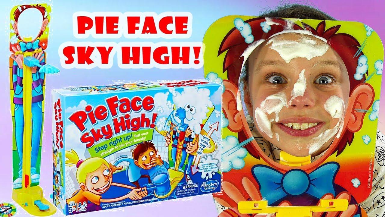 Pie Face Sky High Gra• Challenge • Ciastem w twarz • Hasbro Gaming • Gry dla dzieci