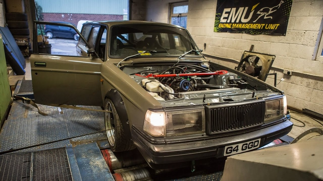Volvo 240 Wagon 2.3 liter Turbo 290hp Dyno - YouTube