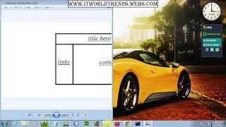 Html Tutorial 2017 -  tutorial 18 Part 3 working with frames - create structured webpage