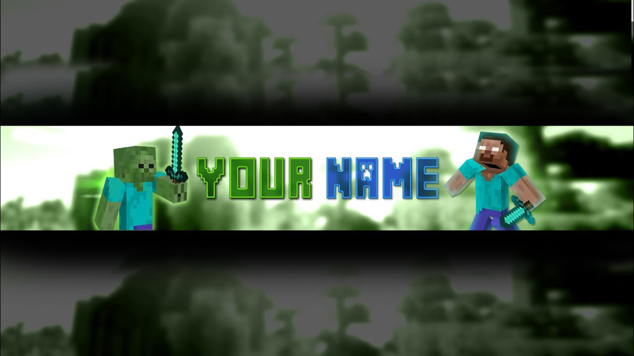 Photoshop Minecraft Banner/Channel Art Template (Download .psd) #3   YouTube