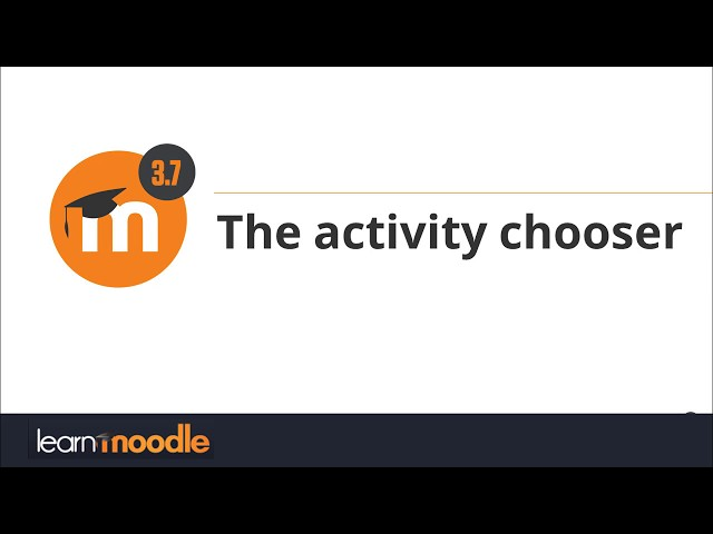 3.7 Activity chooser