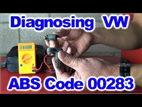 How to Diagnose 00283 VW ABS Code By Howstuffinmycarworks