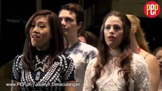 Rachelle Ann Go rehearsing  in Les Miserables