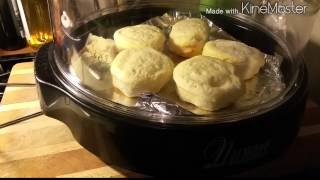How To Cook Roasted Cornish Hen And Easy Biscuits On My Nuwave