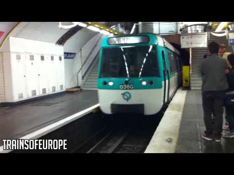 RATP MF 77 arrives at Louis Blanc! [HD]