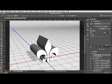 Die 3D-Werkzeuge in Photoshop CC – Adobe Photoshop CC für Fortgeschrittene