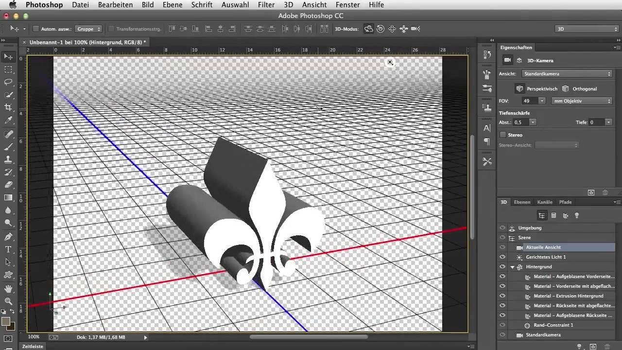 Die 3d werkzeuge in photoshop cc adobe photoshop cc fr its youtube uninterrupted baditri Images