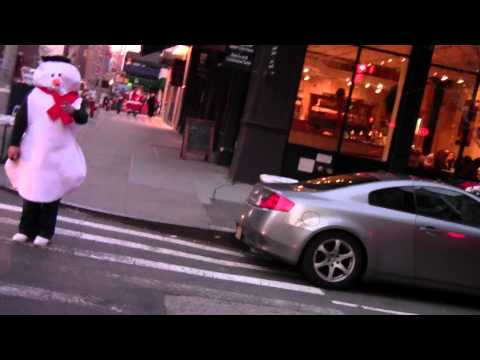 SNOWMAN needs a cab in NYC