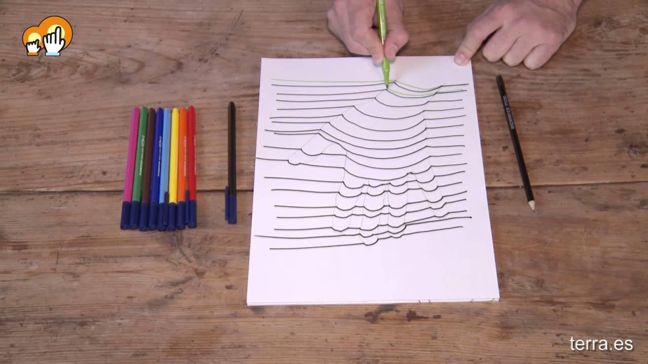 tutorial de dibujo f cil mano en 3d youtube. Black Bedroom Furniture Sets. Home Design Ideas