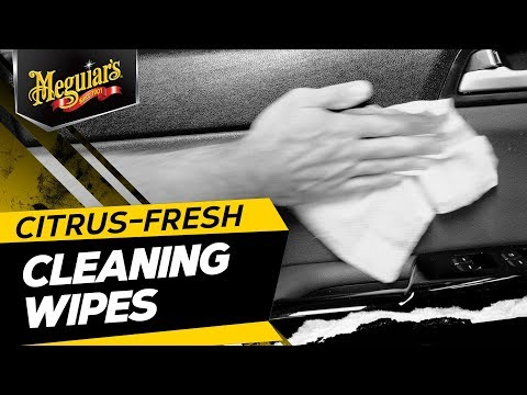 Meguiar's Citrus-Fresh Cleaning Wipes – Interior & Exterior Car Cleaning Wipes