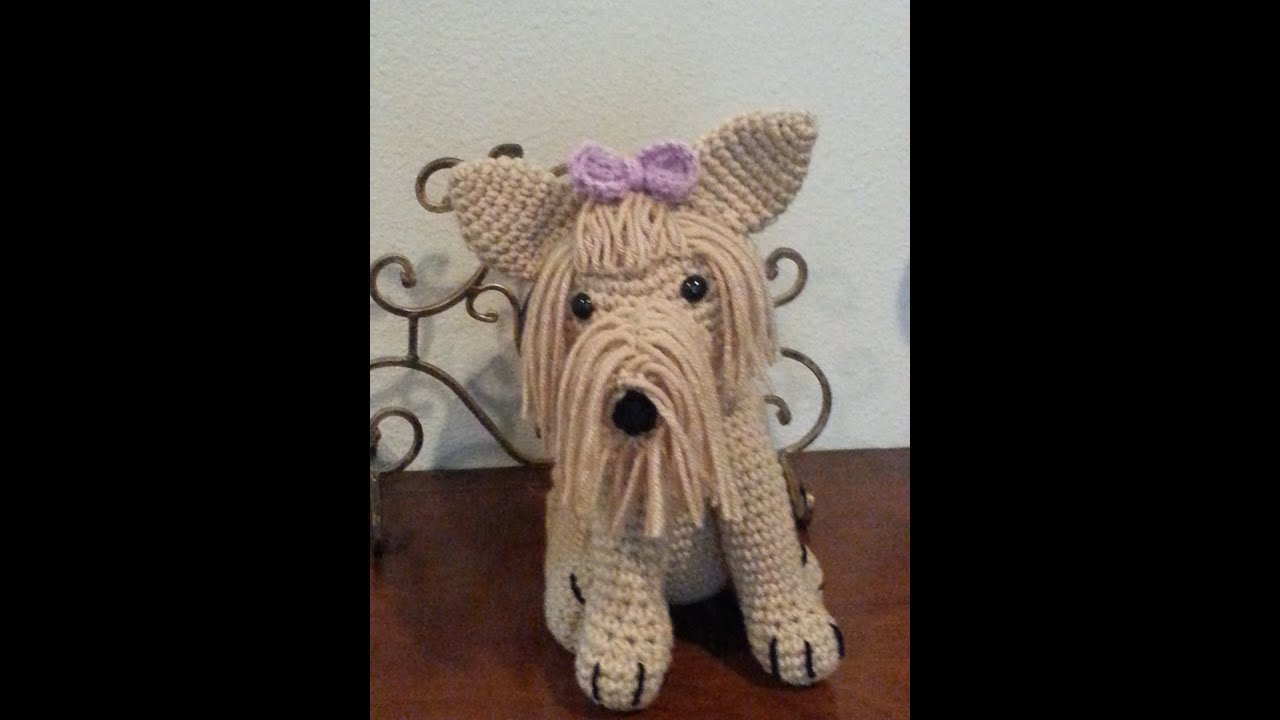 Amigurumi Animals Patterns Free : Crochet Amigurumi Yorkie Dog part 1 DIY tutorial - YouTube