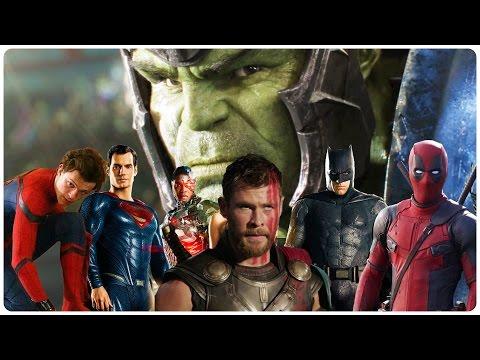 All SUPERHERO Movie Trailers (2017)