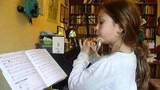 Kate and her flute, 6 weeks in: Roses from the South