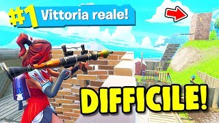 CHALLENGE SEULEMENT FUCILE TO POMPA ET REAL VITTORY!! ITA Fortnite