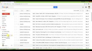 Deleting all emails in gmail from specific category in single attempt.