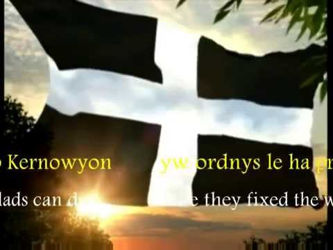 Anthem of Cornwall, Trelawny, in Cornish KW / ENG
