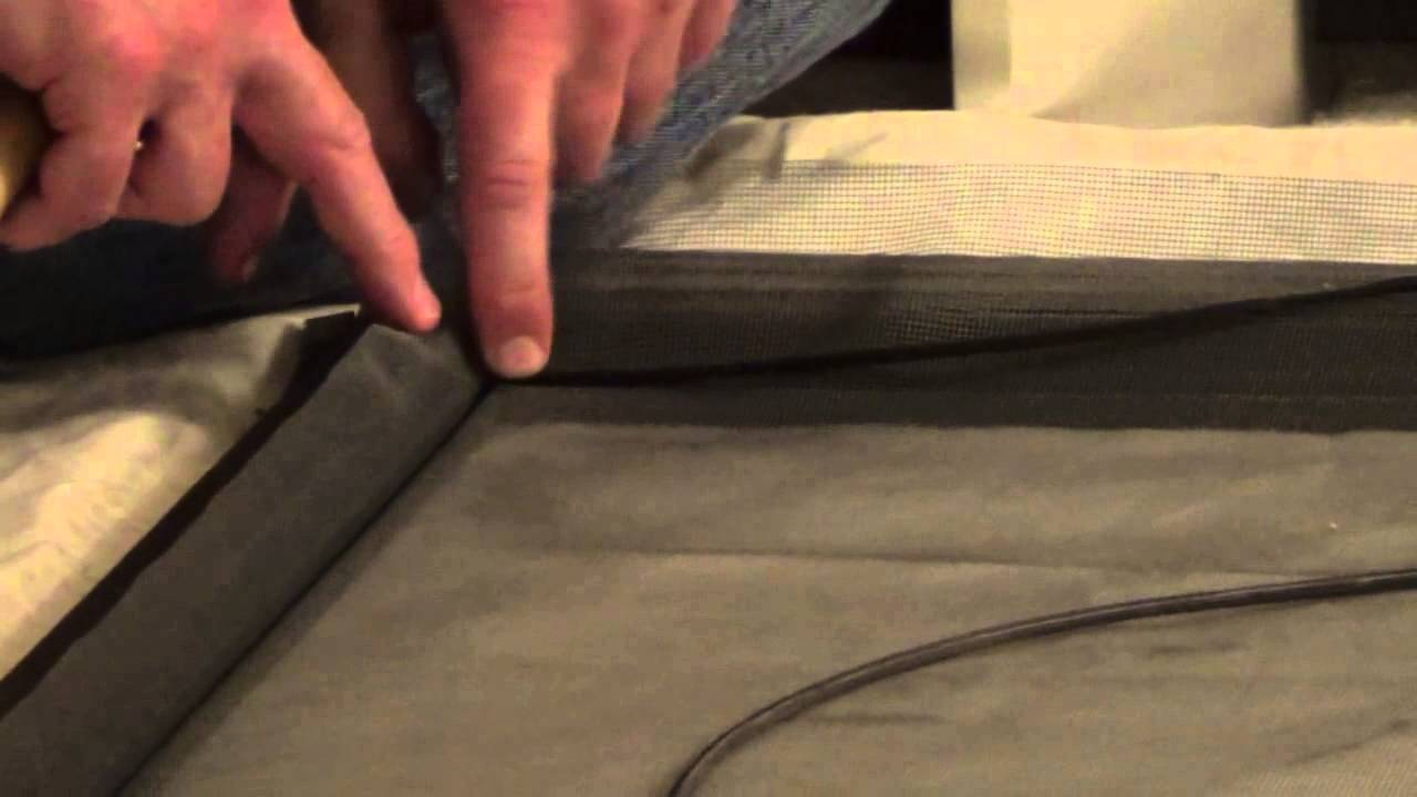 How To Rescreen A Screen Door   How To Re Screen   How To Screen   YouTube