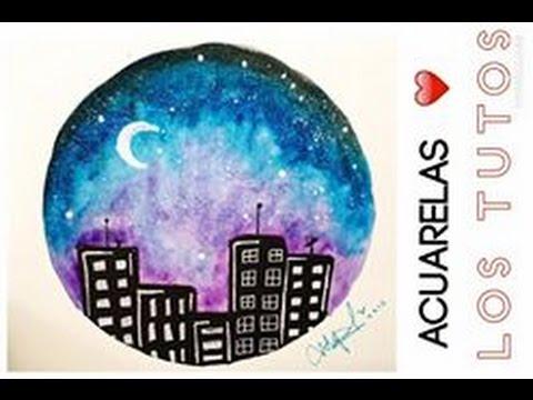 Dibujo En Acuarelas Para Principiantes Drawing In Watercolor Youtube