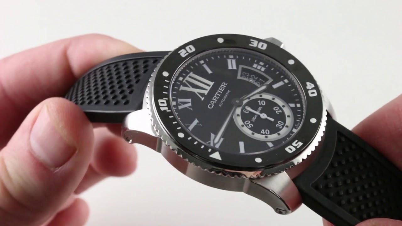 4af15af1359 Cartier Calibre de Cartier Diver W7100056 Luxury Watch Review - YouTube