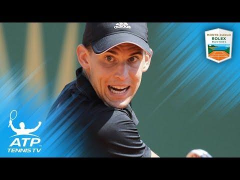 Best Shots and Rallies from Brilliant Thiem v Djokovic Match | Rolex Monte-Carlo Masters 2018