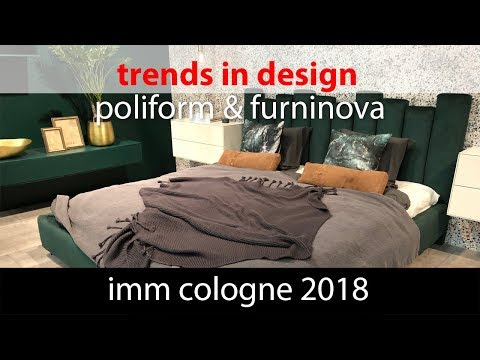 Что нового в дизайне интерьера? IMM Cologne 2018 Poliform & Furninova