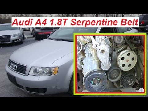 Audi A4 B6 Serpentine Belt Replacement Diagram and How to Install