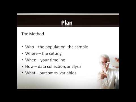 Introduction to Managing a Research Project