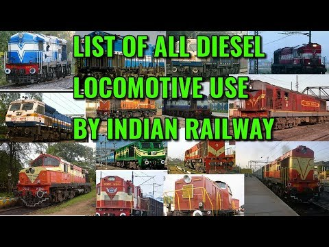 list of all diesel locomotive use by indian railway