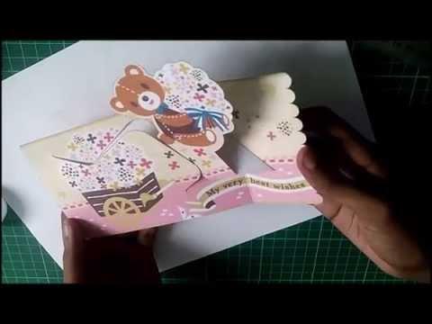 Wishing teddy bear pop up card d i y free template for Teddy bear pop up card template free