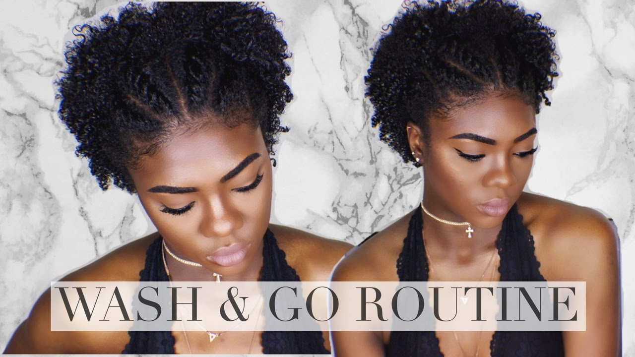 natural hair wash and go styles hair defined wash and go amp tapered type 4 1276 | maxresdefault
