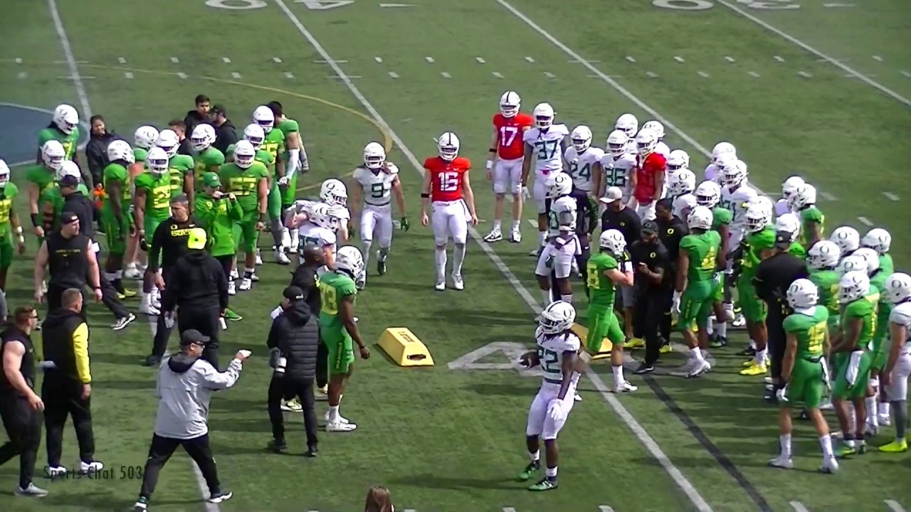 2019 Oregon Ducks Football Spring Practice At Hillsboro Stadium