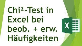 Chi-Quadrat-Test in Excel durchführen - Analysieren von Daten in Excel (20)