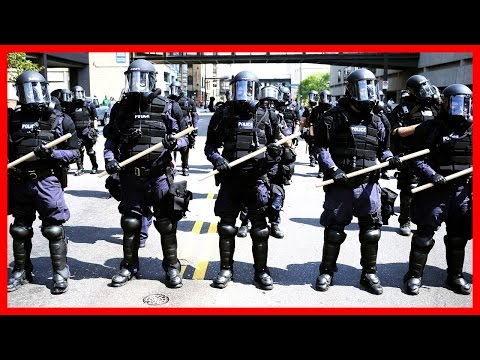 LIVE Riot Police VS Protesters Anaheim California after Donald Trump Rally