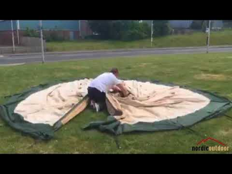 A Very Basic Demonstration Of Putting Up A Tentipi Zirkon 15 CP - Nordic Outdoor