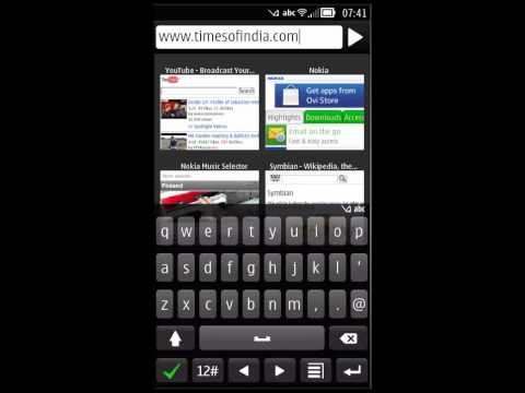 Nokia 700 Youtube app and browser in action