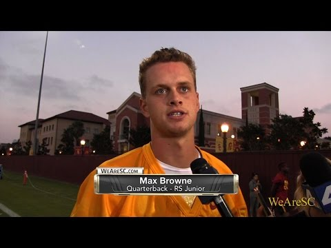 Max Browne talks following Day 1 of fall camp