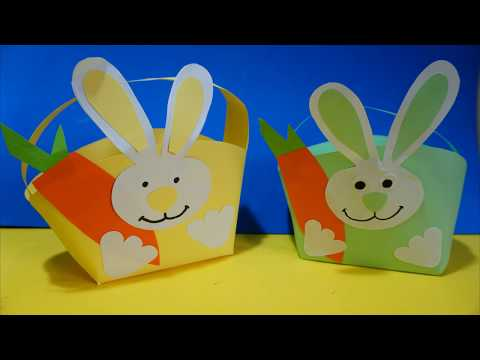 1  How to make an Easter Basket   Cute Easter Bunny Basket DIY   Easy Easter Craft