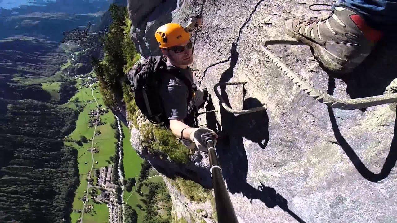 Klettersteig Switzerland : Klettersteig mürren gimmelwald via ferrata full hd qualität youtube