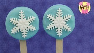 FROZEN ELSA INSPIRED COOKIE POPS - Christmas Disney Oreo Pop Snowflake Party Treats