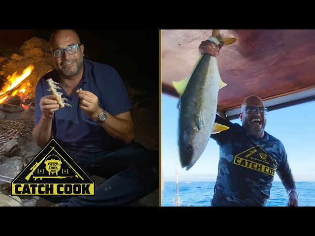 Catch cook with Big Brother winner - yellowtail kingfish mania - tip of Africa