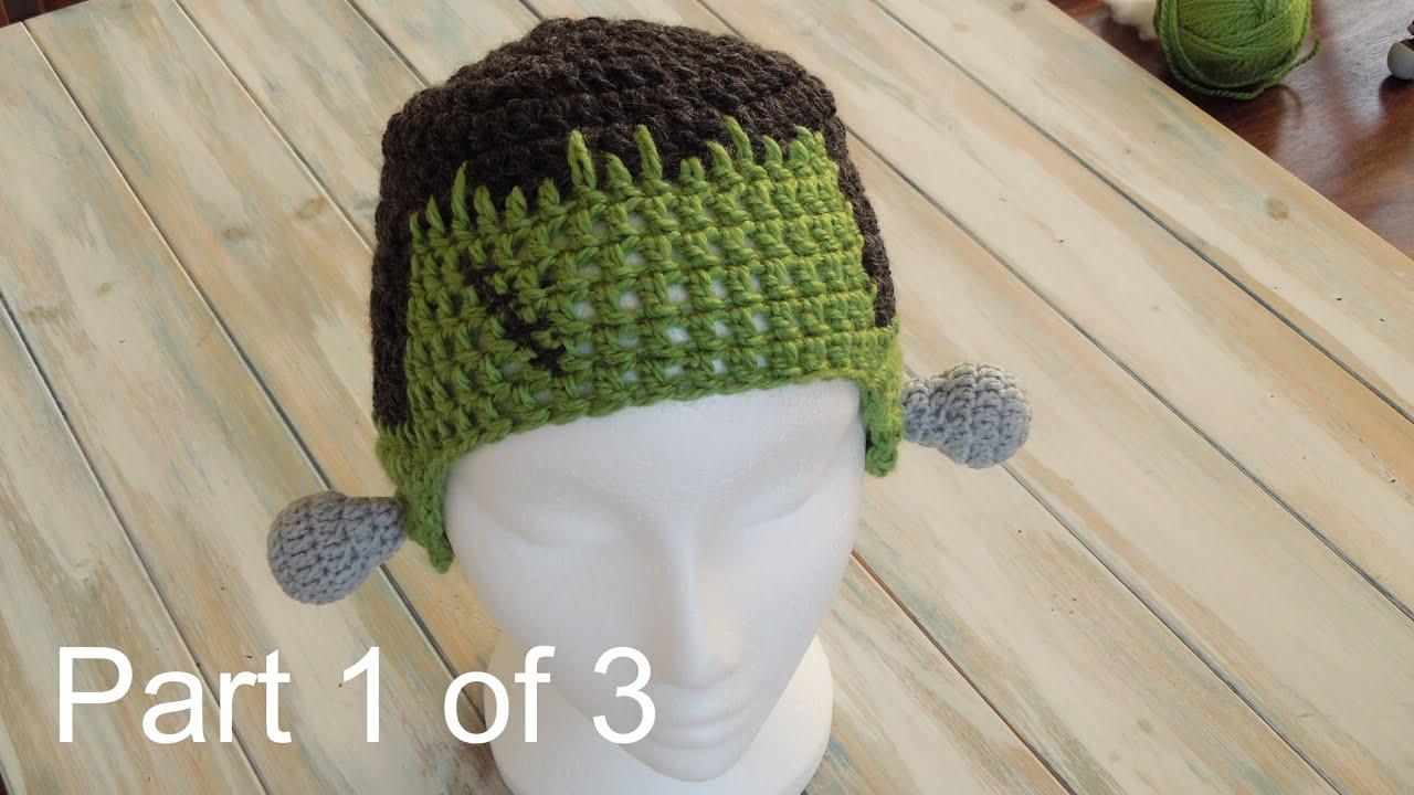 Crochet Pt1 How To Crochet A Frankenstein Hat Yarn Scrap Friday