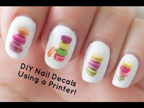 DIY Nail Art Decals Using a Printer - 동영상