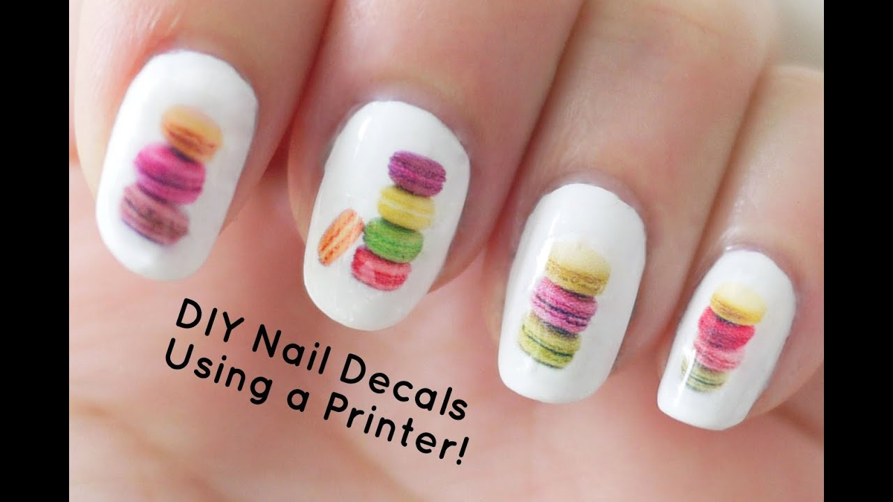 Diy Nail Art Decals Using A Printer Youtube