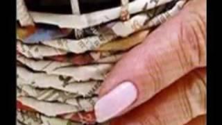 Пошаговое плетение корзин из обычных газет Первый Урок.