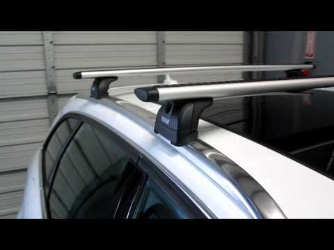 Thule Aeroblade Edge Fix Point Car Roof Rack For 2012