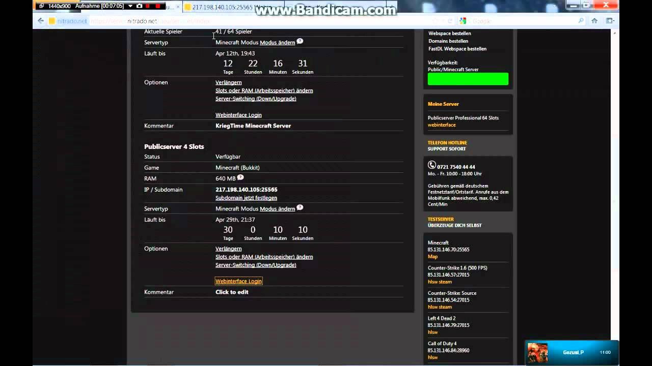 Minecraft Server Erstellen Teil Nitrado YouTube - Eigenen minecraft server erstellen nitrado